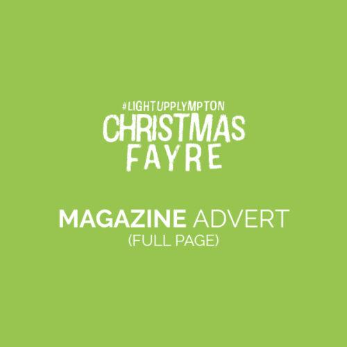 Light Up Plympton Full Page Advert